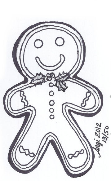 Christmas Sketches.50 Sketches Of Christmas 13 Blissful Art